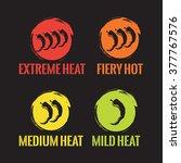 chilli heat strengths  vector | Shutterstock .eps vector #377767576