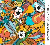 colorful sport seamless pattern ... | Shutterstock .eps vector #377774872