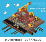construction site with building ... | Shutterstock .eps vector #377776102