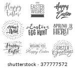 easter wishes overlays ... | Shutterstock .eps vector #377777572