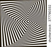 geometric optical illusion | Shutterstock . vector #377780332