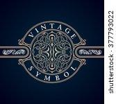 vintage crest elements...   Shutterstock .eps vector #377793022