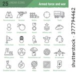 twenty five vector linear icons ... | Shutterstock .eps vector #377794462