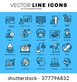thin line icons set. business... | Shutterstock .eps vector #377796832