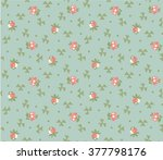 floral retro background...