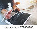 website designer working...   Shutterstock . vector #377800768