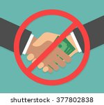 anti corruption concept.... | Shutterstock .eps vector #377802838