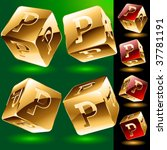 dice styled cube's set with... | Shutterstock .eps vector #37781191