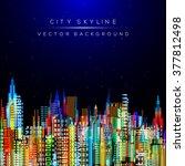 modern city life abstract... | Shutterstock .eps vector #377812498