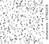 random letters seamless pattern.... | Shutterstock .eps vector #377821078