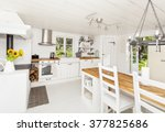 Interior Of A Kitchen In The...