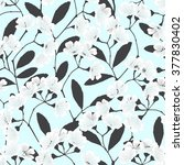 seamless pattern with flowering ... | Shutterstock .eps vector #377830402