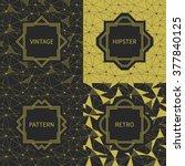 set of geometric line hipster...   Shutterstock .eps vector #377840125