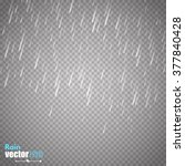 Vector Rain Isolated On...