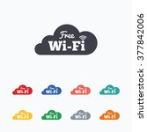 free wifi sign. wifi symbol.... | Shutterstock .eps vector #377842006