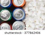 unhealthy food concept   sugar... | Shutterstock . vector #377862406