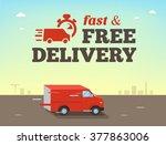 illustration of  fast shipping... | Shutterstock . vector #377863006