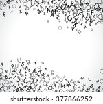 abstract black alphabet... | Shutterstock .eps vector #377866252