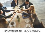 dinner dining wine cheers party ... | Shutterstock . vector #377870692