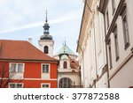 view of the old town of prague  ... | Shutterstock . vector #377872588
