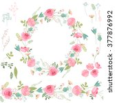 floral spring elements with... | Shutterstock .eps vector #377876992