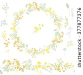 floral round garland and... | Shutterstock .eps vector #377877376