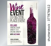 design for wine event. suitable ... | Shutterstock .eps vector #377878612