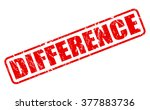 difference red stamp text on... | Shutterstock .eps vector #377883736