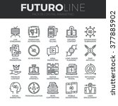 modern thin line icons set of... | Shutterstock .eps vector #377885902