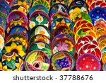 Colorful  Mexican Hand Painted...