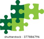 puzzle vector pieces jig saw | Shutterstock .eps vector #377886796