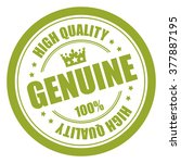 green genuine 100  high quality ... | Shutterstock . vector #377887195
