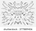 vector floral set. graphic... | Shutterstock .eps vector #377889406