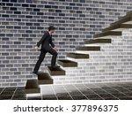concept or conceptual 3d male... | Shutterstock . vector #377896375