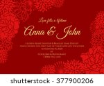 Wedding Card   Red Rose And...