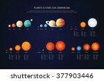 high detailed stars comparison... | Shutterstock .eps vector #377903446