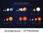 high detailed stars comparison... | Shutterstock .eps vector #377903446
