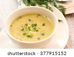 baked potato soup   soup bowl | Shutterstock . vector #377915152