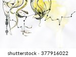 woman portrait .abstract... | Shutterstock . vector #377916022