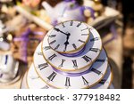 Stock photo the cake that looks like a watch from a mad tea party 377918482