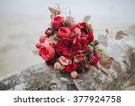 wedding bouquet . the bride's... | Shutterstock . vector #377924758