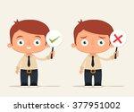 cute cartoon office workers...   Shutterstock .eps vector #377951002