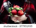 fruit and vegetable bouquet | Shutterstock . vector #377951935