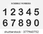 vector hand drawn numbers... | Shutterstock .eps vector #377960752