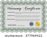 warranty certificate. detailed. ... | Shutterstock .eps vector #377969422