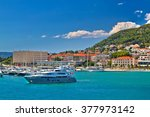 adriatic coast in split... | Shutterstock . vector #377973142