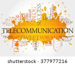 telecommunication word cloud ... | Shutterstock . vector #377977216
