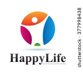 logo happy life icon element... | Shutterstock .eps vector #377998438