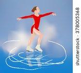 girl skater | Shutterstock .eps vector #378005368