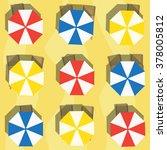 Colorful Beach Umbrellas And...